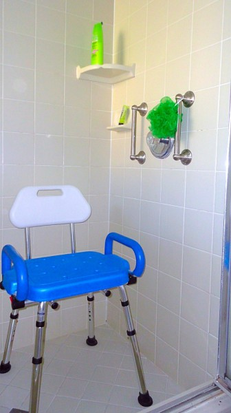 Shower stool for disabled